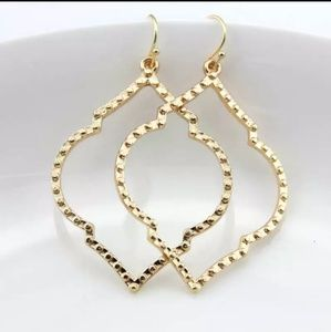 Anthropologie gold tone Moroccan earrings